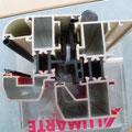Vista sección s-7070 con rotura de puente térmico de 75 mm