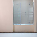 "MAMPARA DE BAÑO MODELO ""NOVAPLUS-B"". Frontal baño con 4 hojas plegables."