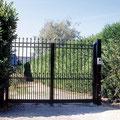 Puerta batiente clásica de barrotes modelo DIDJI en color negro
