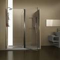 MAMPARA DE DUCHA FRONTAL HUMIDRY-2. Mampara frontal de ducha con zona de secado y toalleros