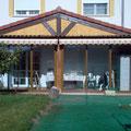 Cerramiento en color Marrón en Irún, Guipúzcoa