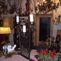 Trenngitter als Kerzenständer in Eisen bebürstet - Hotel Alex Zermatt
