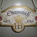 Stammtischschild HB München