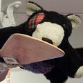 kein Bär, sondern ein Wombat - er sitzt im Ventilator, weil mit ihm Wombat Tennis gespielt wurde, was ihm so manche Blessur eingebracht hat