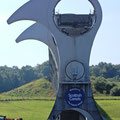das Falkirk Wheel von unten gesehen