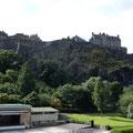 das Castle von unten gesehen