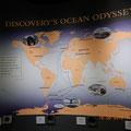 die Reiserouten der Discovery