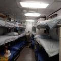 ein Schlafraum in der sogenannten Kaserne, dem Teil, welcher der Musikkapelle vorbehalten war