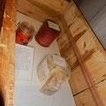 ein Teil der Lebensmittel, die an Bord waren