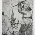 Bulgarian myths 1 / etching, ca. 20x30cm, 1997