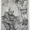 Bulgarian myths 2 / etching, ca. 20x30cm, 1997