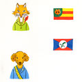 国旗のデザインも考えました。
