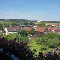Blick vom Balkon der Fewo Schwalbennest in Mähring - Ostbayern
