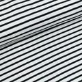 Stoffonkel - Biojersey - Streif weiß/schwarz