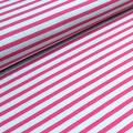 Stoffonkel - Biojersey Streifen hellgrau/pink