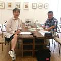 次回セミナー打ち合わせ兼ねて・・岐阜建築士会の横井副会長