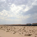 A mirage in the sand. The longest train in the world. Mauritania