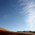 Between heaven and earth. Sahara Desert.