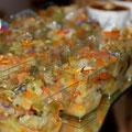 Verrine de légumes croquants