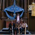 Jens, Henne, ich und der Drachenbkünstler Willi Koch