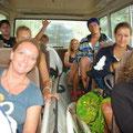 Der Bus brachte uns jeden Tag zu einem anderen Strand...