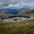Queenstown hat im Winter 2 grosse Skigebiete... hier befinde ich mich auf dem Coronet Peak.