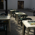 In Wirklichkeit waren nicht so viele am Schachspielen interessiert...