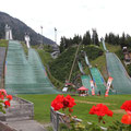 In Oberstdorf kam ich dann direkt an der Skisprungschanze raus, wo ich mir einen letzten Kaiserschmarrn gönnte.