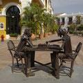 Schachspielerskulptur