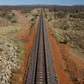 Mit dem Zug war ich nicht nach Alice Springs unterwegs...