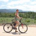 Am naechsten Tag erkunde ich mit dem Fahrrad die Waelder...