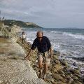 Der Rückweg am Strand entlang gestaltete sich etwas steiniger... :-)
