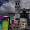 Ueberall in Quito gibt es Fotoaustellungen...