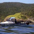 Dies ist das kleine tauchboot, mit dem wir rausgefahren sind...