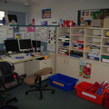 Das Lehrerzimmer, in dem der Unterricht vorbereitet wird.