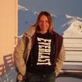 Ein letztes Mal stehe ich auf der Terrasse oben auf dem Jacobshorn...