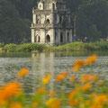 Eine Pagode in Hanoi