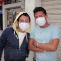 Mundschutzmasken auch... :-)