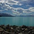 Ich erreiche den blauen See Pukaki