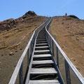Der Aufstieg zum höchsten Punkt der kleinen Insel.