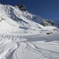 Hier wartete keine Gletscherspalte, aber ein kleines Loch auf mich.