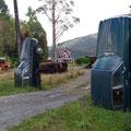 """originelles Garten""""tor"""" auf dem Weg zum Lewis Pass"""