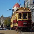 Touristenattraktion - die alte Strassenbahn