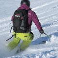 ...und teste den Schnee.