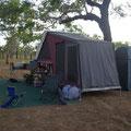 Und hier nun mal ein Beispiel fuer ein typisch australisches 4WD Bushcamp