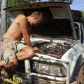 Und waehrend Martin sich oft den Schrauben im Auto widmete...