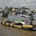 Wir erreichen den schwimmenden Markt von Can Tho.