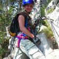 Auf dem Klettersteig von Champery...