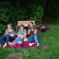 ... denn das wohlverdiente Picknick steht an.