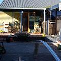 ... noch ist viel zu tun und der Garten hinter dem Haus aehnelt einer Baustelle...